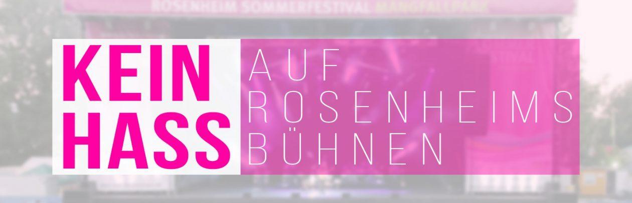 Bündnis – kein Hass auf Rosenheims Bühnen